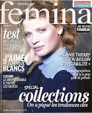 VERSION FEMINA N°668 19 JANVIER 2015 MELANIE THIERRY/SPECIAL COLLECTIONS/ ERABLE