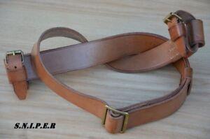 ✅🔥 Original genuine leather Mosin-Nagant 91/30 rifle carrying sling 1940s