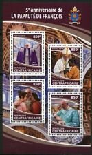 CENTRAL AFRICA 2018 5th PAPAL  ANNIVERSARY   OF POPE FRANCIS SHEET MINT NH