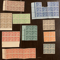 1916 BAVARIA STAMPS INCLUDES OFFICIAL BAYERN UNUSED BLOCKS AND PANELS
