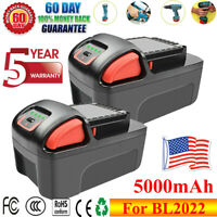 2X 20V 5.0Ah Battery For Ingersoll Rand BL2022 IQV20 Series High Capacity GM