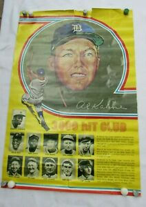 Vintage 1970s Al Kaline 3000 Hits Baseball Poster 52441