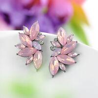 1 Pair Attractive Crystal Rhinestone Ear Drop Dangle Stud Earrings Jewelry Gift