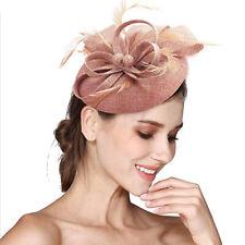 Fascinator Headband Hats Round Hatinator Ascot Races Pillbox Feathers Hair Clip