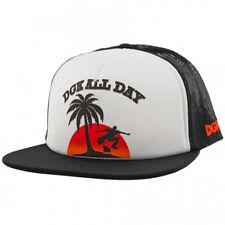 DGK Men's Malibu Trucker Snapback Hat Black NA  Skate Cool Dope Streetwear