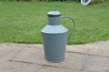Vintage old enamel metal jug water wine milk can churn