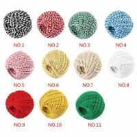 100M Cotton Bakers Twine String Cord Glass Bottle Gift Box Decor Craft 1.5mm
