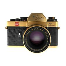 Leica R3 Oskar Barnak Gold Camera with 50mm f1.4 Summilux-R Lens, Boxed