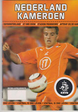 Programme / Programma Holland v Cameroon 27-05-2006 friendly