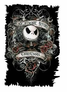 Nightmare Before Christmas Iron On Transfer Light/Dark Fabrics