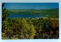 Watkins Glen New York Seneca Lake View From Cemetery Hill Look-Out Postcard