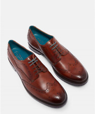 TED BAKER MENS SENAPE DERBY TAN LEATHER LACE-UP SHOES £150