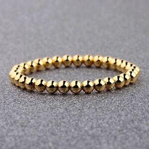 Fashion Men Ball Pave CZ White Sapphire Braided Macrame Bracelet Bead Jewelry