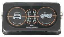 Rampage Universal Jeep Pitch and Roll Clinometer and CJ Graphic (w/o Compass)