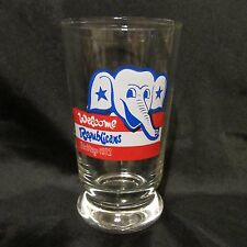 San Diego 1972 Republican Elephant Glass Tumbler Welcome Republicans Nos