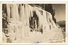 Clarksfork ID * Winter Highway Scene RPPC 1945 * Ross Hall Bonner Co. FREE Frank