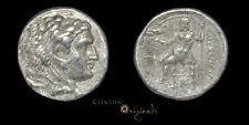 ALEXANDER III THE GREAT ZEUS EAGLE ANCIENT GREEK SILVER TETRADRACHM COIN 027544