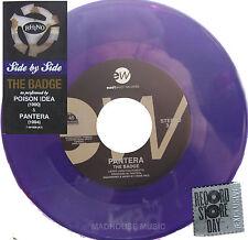 "PANTERA 7"" The Badge dark PURPLE Vinyl RECORD STORE DAY 2014 w/ POISON IDEA"