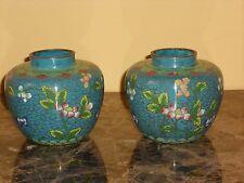 Pair Chinese Cloisonné Enamel Vases