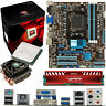 AMD X8 Core FX-8320 3.5Ghz & ASUS M5A78L-M USB3 & 4GB DDR3 1600 Viper Venom Red