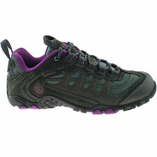 LADIES HI-TEC WATERPROOF HIKING SHOES SIZE UK 4 - 8 CHARCOAL PURPLE PENRITH LOW