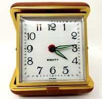 Vintage Equity Travel Alarm Clock - Wind-Up - Fold-Up - Tested             WY147