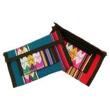 #588 Two Purse Wallet ID Check Book Credit Card Pocketbook Peru Cotton Handmade