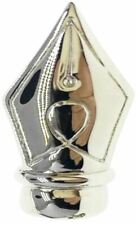 Bassin and Brown Mens Fountain Pen Lapel Pin - Silver