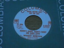 CHRISTMAS 45,  WENDY BURTON. MOMMY'S DADDY'S SANTA CLAUS  / 17 MILLION BICYCLES.