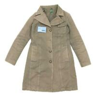 United Colors of Benetton Womens Size 10 Cotton Brown Coat