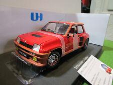 RENAULT 5 TURBO rouge métal au 1/18 UNIVERSAL HOBBIES 4520 voiture miniature