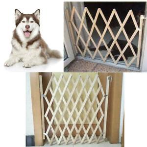 Folding Baby Gate Safety Fence Child Protection Wood Door Dog Cat Pet   **