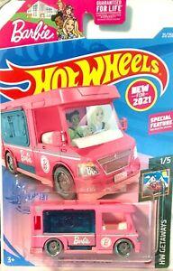 Hot Wheels 2021 Blue card HW Getaways #021 BARBIE'S DREAM CAMPER GRX39