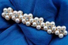 Pearl Flower Clip Costume Hair & Head Jewellery