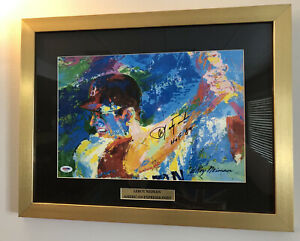 CARL YASTRZEMSKI SIGNED LEROY NIEMAN PSA DNA FRAMED