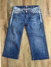 7 For All Man Kind DOJO Crop Capri Jeans, Size 27