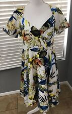 Women's Belle Porque Floral Tea Dress Flare Vintage Size Xlarge XL