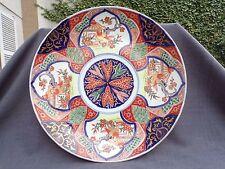 très grand plat 19éme en porcelaine de la compagnie des indes imari 1/2