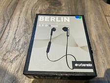 Urbanista Berlin Wireless Ear-phones Dark Clown Black Bluetooth 3 Button Remote
