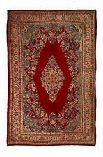 Antique Authentic Handmade Persian Sarouk Rug Red 7'x11' 8x10 Circa 1950