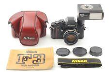 [Quasi Nuovo] Nikon F3 High Performance Nero con MF-14, CASE, SB-17 + Nikon 50mm f1.4 Japan #1693