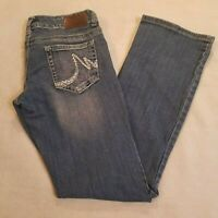 Maurices Womens Sz 5 6 Reg Bootcut Stretch Womens Jeans Embroidered Pockets 1100