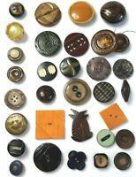 Lot 32 Antique Vintage Buttons Bakelite Plastic Celluloid Button