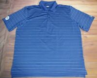 Under Armour HeatGear Golf Short Sleeve SS Polo Shirt Mens XL Striped Blue White