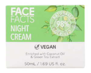 Face Facts Vegan Night Cream 50ml - New & Boxed