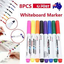 8 Colour Set Kids Whiteboard Marker Non Toxic Dry Erase Easy Wipe Bullet Tip Pen