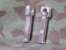 "Metric Chopper 8""  tall polished  aluminum handlebar risers fits 7/8"" bars"