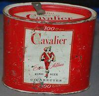 Cavalier Cigarette Metal Tin R.J. Reynolds Brand 100 Pack Tin