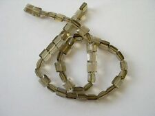 Smoky quartz faceted square beads 8x8mm