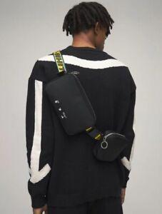 OFF White Logo Double Nylon Bag | Black / White | Crossbody Virgil OW Arrows
